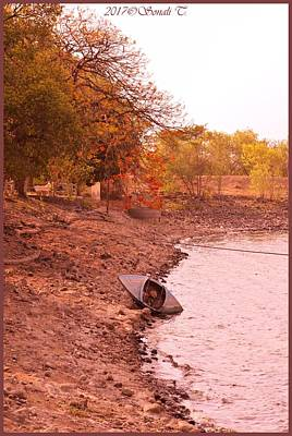Photograph - Kayak At Banks Of Ambazari Lake by Sonali Gangane