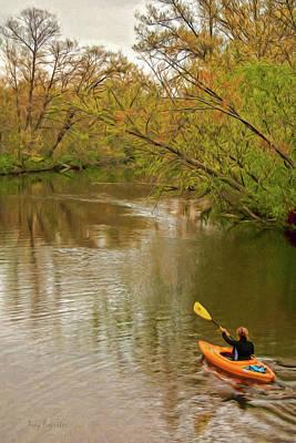 Digital Art - Kayak At Mead by Trey Foerster