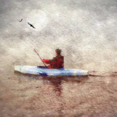 Photograph - Kayak At Night by Melissa D Johnston