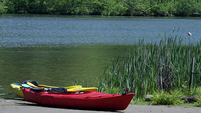 Photograph - Kayak At Raccoon State Park by Joyce Wasser