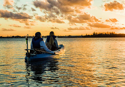 Photograph - Kayak At Sunset by Fran Gallogly