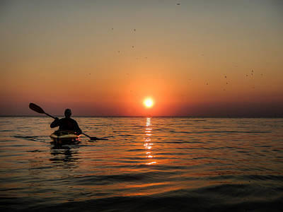 Photograph - Kayak At Sunset by Terry Ann Morris