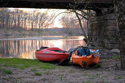 Photograph - Kayak Boats by Bonfire Photography