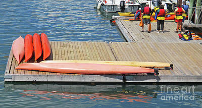 Photograph - Kayak Dock by Randall Weidner