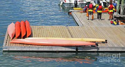 Photograph - Kayak Dock by Randall Weidner