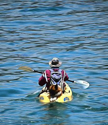 Photograph - Kayak Dog Santa Barbara California by Floyd Snyder