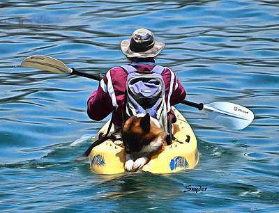 Photograph - Kayak Dog Santa Barbara Detail by Floyd Snyder