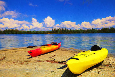 Photograph - Kayak Impressions by Greg Norrell