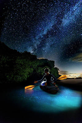 Photograph - Kayak In The Biobay Under The Milky Way by Karl Alexander