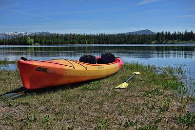 Photograph - Kayak On Jackson Lake Wyoming by Dan Sproul