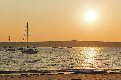 Photograph - Kayak On Niles Beach Gloucester Ma by Toby McGuire