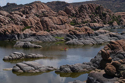 Watson Lake Photograph - Kayak On Watson Lake by Mihaela Nica