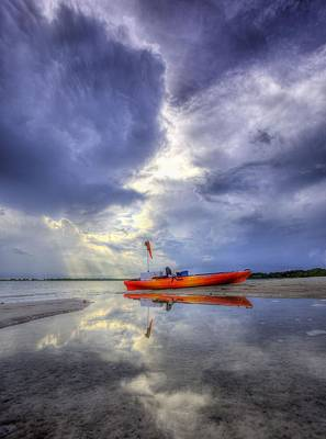 Kayak Panama City Beach Art Print by JC Findley
