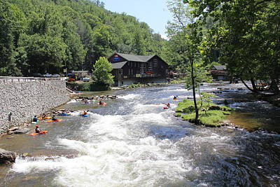 Photograph - Kayak Practice Waters by Allen Nice-Webb