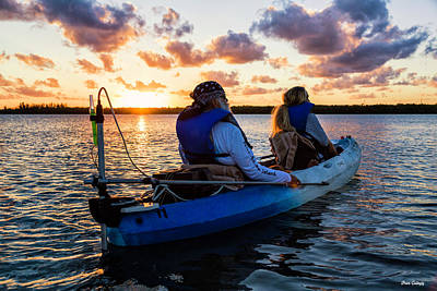 Photograph - Kayak Sunset by Fran Gallogly