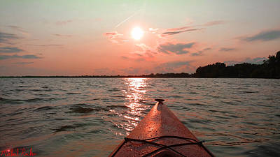 Photograph - Kayak Sunset by Michael Rucker