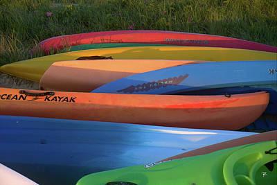Kayak Art Print by Tom Romeo