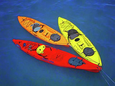 Photograph - Kayak Trio by Nikolyn McDonald