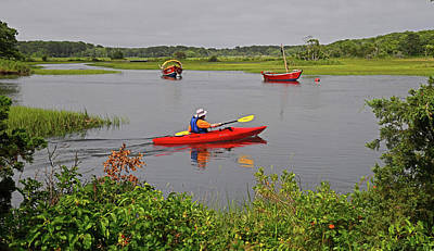 Photograph - Kayaking On The Herring River by Ken Stampfer