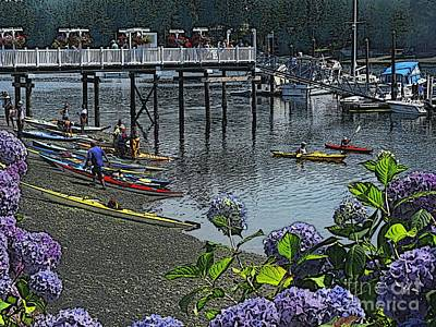 Photograph - Kayakers At Fair Harbor Marina by Terri Thompson