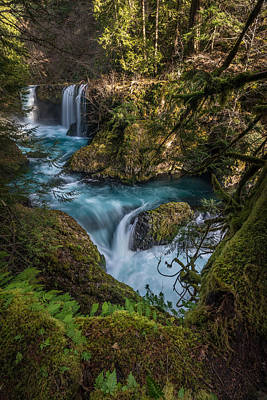 Photograph - Columbia River Gorge Spirit Falls by Rick Dunnuck