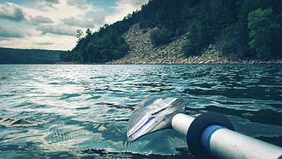 Photograph - Kayaking At Devils Lake by Jeanette Fellows