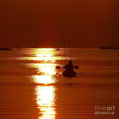 Photograph - Kayaking At Sunset by Jean Wright