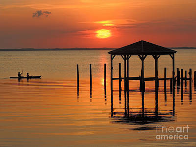 Photograph - Kayaking At Sunset Obx by Jeff Breiman