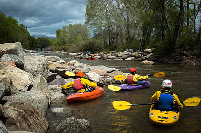 Photograph - Kayaking Class by Stephen Holst