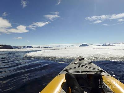 Modern Kitchen - Kayaking fast ice, Gustaf Sound, Antarctica by Karen Foley