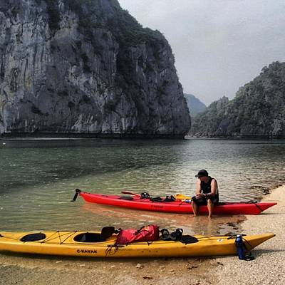 Photograph - Kayaking Halong Bay #vietnam by Paul Dal Sasso