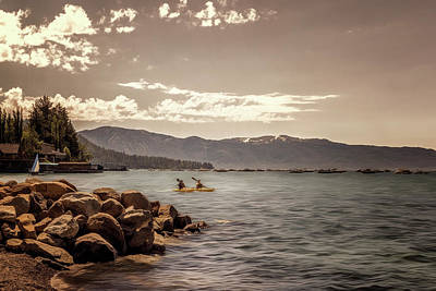 Photograph - Kayaking Lake Tahoe by Maria Coulson
