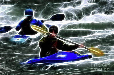 Photograph - Kayaking In The Zone 2 by Bob Christopher