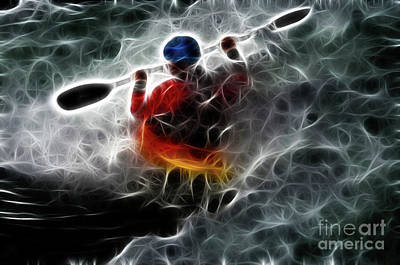 Photograph - Kayaking In The Zone 3 by Bob Christopher