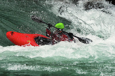 Photograph - Kayaking Magic Of Water 5 by Bob Christopher