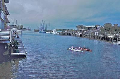 kayaking on Shem Creek Art Print