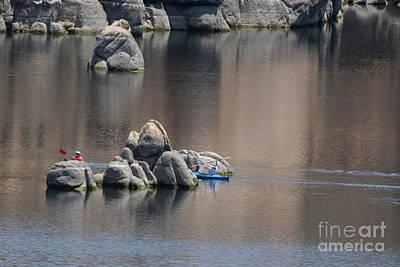 Kayaking On The Lake Art Print by Anne Rodkin