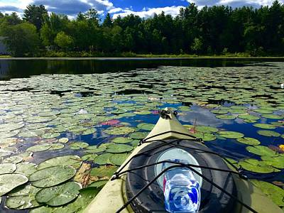 Photograph - Kayaking On The Pond by Chris Alberding