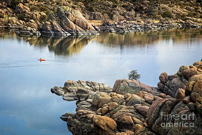 Photograph - Kayaking Watson Lake by Scott Kemper