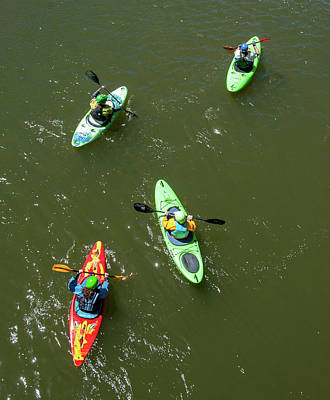 Photograph - Kayaks Aerial by Britt Runyon