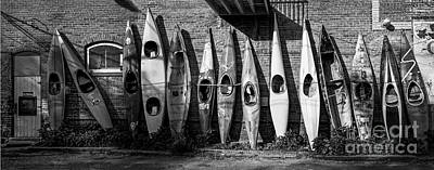 Kayaks And Canoes Art Print