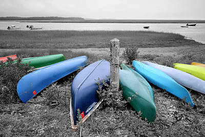 Photograph - Kayaks And Canoes by Luke Moore