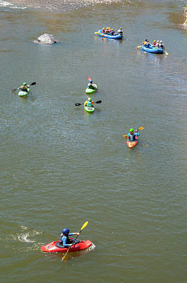 Photograph - Kayaks And Rafts by Britt Runyon