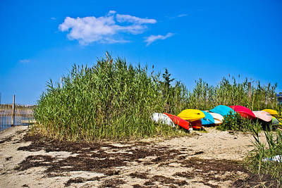 Photograph - Kayaks At Barnegat by Colleen Kammerer