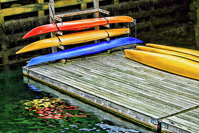 Photograph - Kayaks At Camden Harbor by Carolyn Derstine