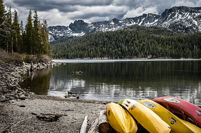 Photograph - Kayaks At Lake Mary by Cat Connor