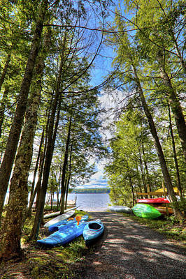 Photograph - Kayaks At Palmer Point by David Patterson