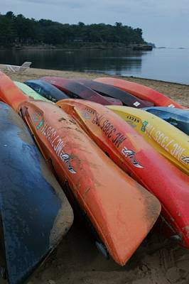Photograph - Kayaks At Rest by David Frankel