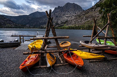 Photograph - Kayaks At Silver Lake  by Cat Connor
