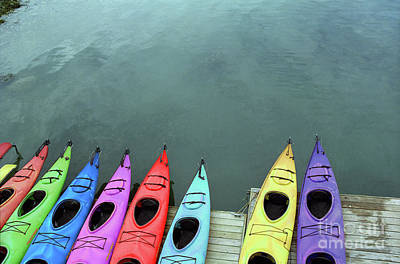 Photograph - Kayaks At The Ready by Nicki McManus